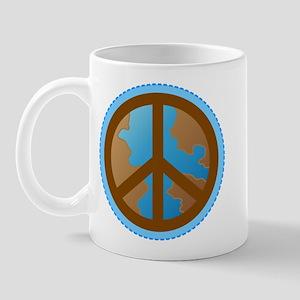 Peace Sign Earth Day Mug