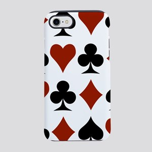 card-suits-multi iPhone 7 Tough Case