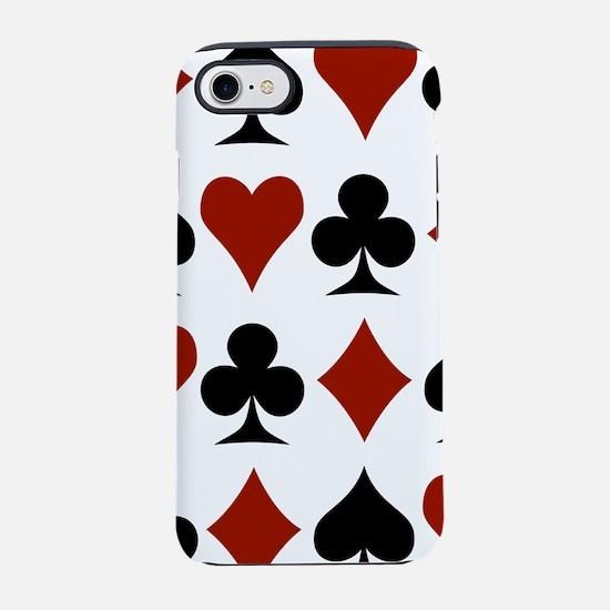 card-suits-multi.png iPhone 7 Tough Case