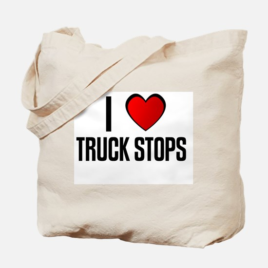 I LOVE TRUCK STOPS Tote Bag