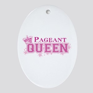 Pageant Queen Ornament (Oval)
