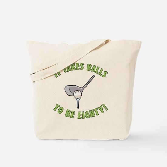80th Birthday Golfing Gag Tote Bag