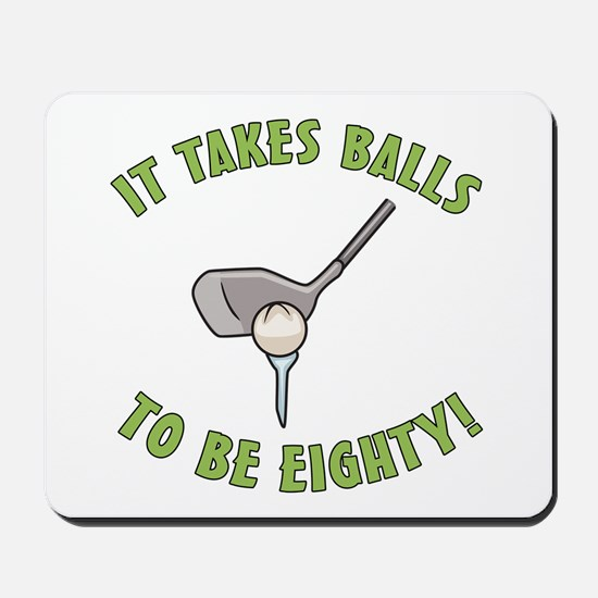 80th Birthday Golfing Gag Mousepad