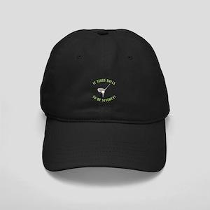 70th Birthday Golfing Gag Black Cap