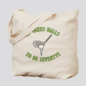 70th Birthday Golfing Gag Tote Bag