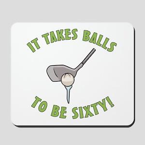60th Birthday Golfing Gag Mousepad