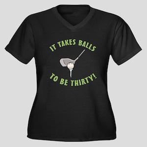 30th Birthday Golfing Gag Women's Plus Size V-Neck