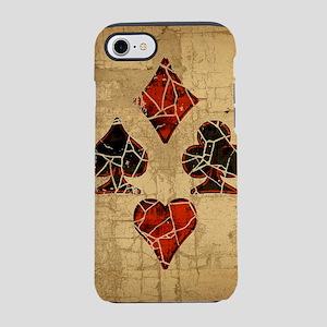 card-suits-dist_square iPhone 7 Tough Case