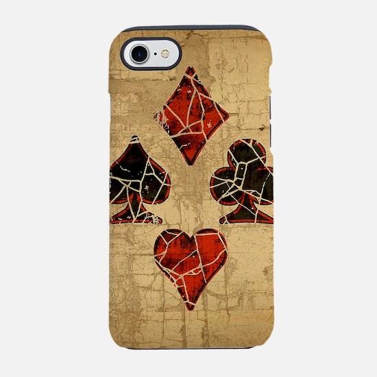 card-suits-dist_square.jpg iPhone 7 Tough Case