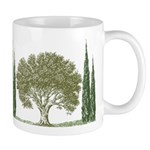 """Olive Tree/Cypress"" Mug"