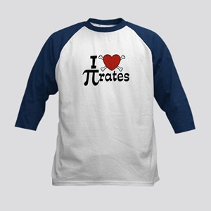 I Love Pi rates Kids Baseball Jersey