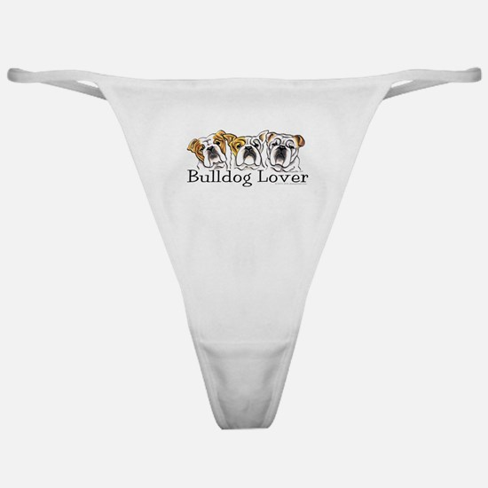 English Bulldog Lover Classic Thong