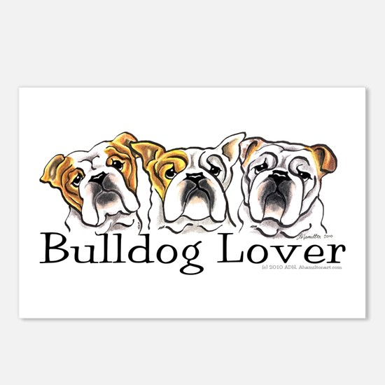English Bulldog Lover Postcards (Package of 8)