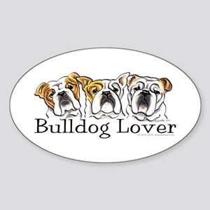 English Bulldog Lover Sticker (Oval)
