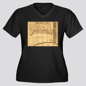 Old Alexandria VA Map by George Plus Size T-Shirt