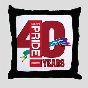 40th Anniversary Throw Pillow
