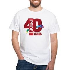 40th Anniversary White T-Shirt
