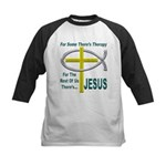 Jesus Therapy Kids Baseball Jersey