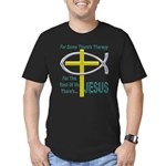 Jesus Therapy Men's Fitted T-Shirt (dark)