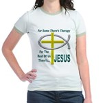 Jesus Therapy Jr. Ringer T-Shirt