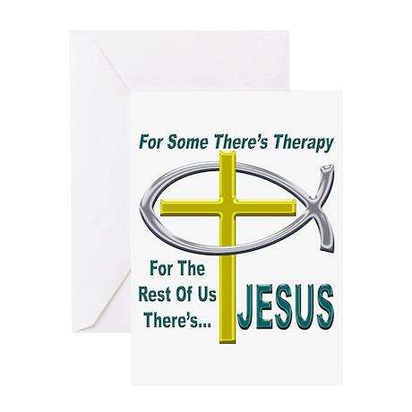 Jesus Therapy Greeting Card
