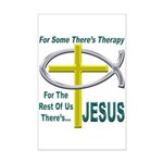 Jesus Therapy Mini Poster Print