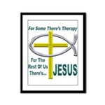 Jesus Therapy Framed Panel Print