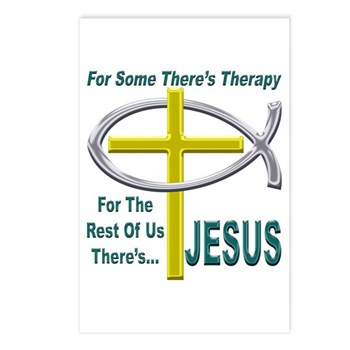 Jesus Therapy Postcards (Package of 8)