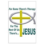 Jesus Therapy Large Poster