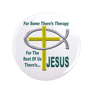 "Jesus Therapy 3.5"" Button (100 pack)"