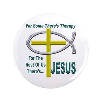 "Jesus Therapy 3.5"" Button"