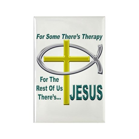 Jesus Therapy Rectangle Magnet (100 pack)