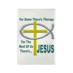 Jesus Therapy Rectangle Magnet (10 pack)