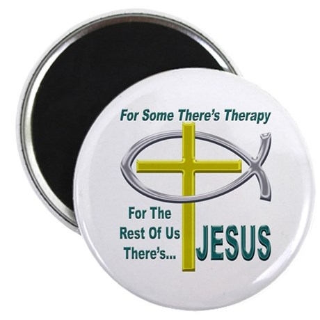 """Jesus Therapy 2.25"""" Magnet (100 pack)"""