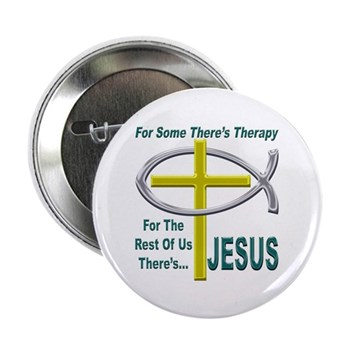 """Jesus Therapy 2.25"""" Button (100 pack)"""