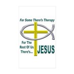 Jesus Therapy Sticker (Rectangle 50 pk)