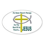 Jesus Therapy Sticker (Oval 50 pk)