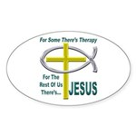 Jesus Therapy Sticker (Oval 10 pk)