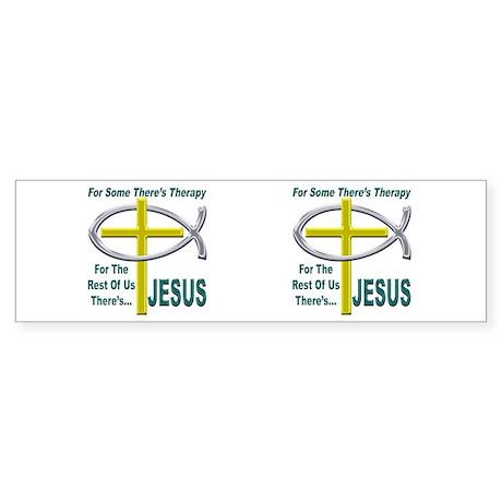 Jesus Therapy Sticker (Bumper)