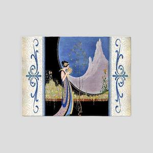 Art Deco Spring Mavis Vivadou Ad 5'x7'Area Rug