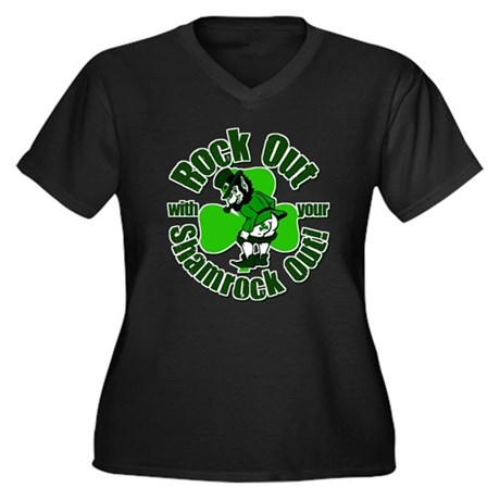 Rock Out With Your Shamrock Out Women's Plus Size