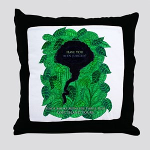 LOST Black Smoke Monster Throw Pillow