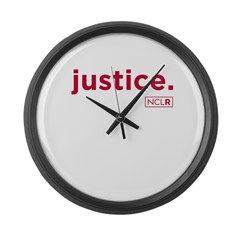 Large NCLR Justice Wall Clock