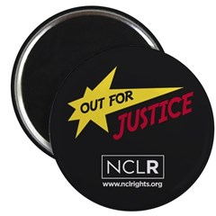 Out for Justice Round Magnet