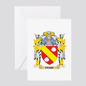 Perri Family Crest - Coat of Arms Greeting Cards