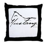 Sig Mustang Throw Pillow