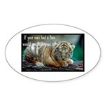 Tiger Coat Sticker (Oval)
