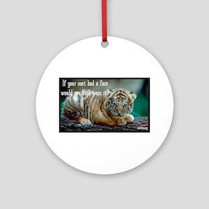 Tiger Coat Ornament (Round)