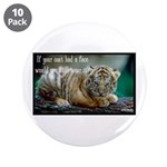 "Tiger Coat 3.5"" Button (10 pack)"