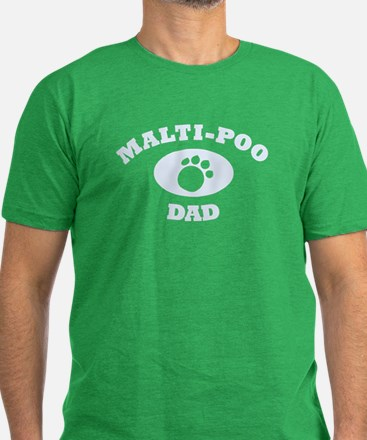 Malti-Poo Dad Men's Fitted T-Shirt (dark)